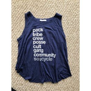 Soulcycle women's tulip back mantra tank sz small